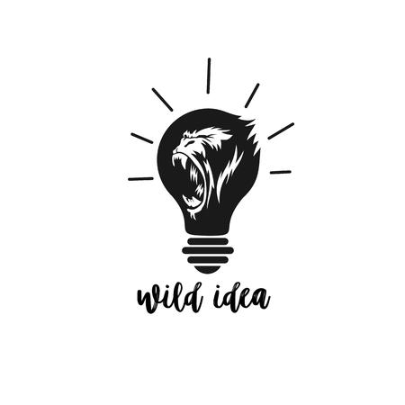 고릴라 벡터 일러스트 레이 션 디자인의 최소한의 로고입니다. 일러스트