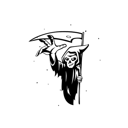 minimal logo of reaper vector illustration.