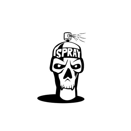 Spray icon skull vector illustration