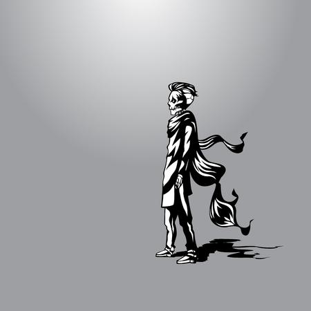 waiting for death vector illustration