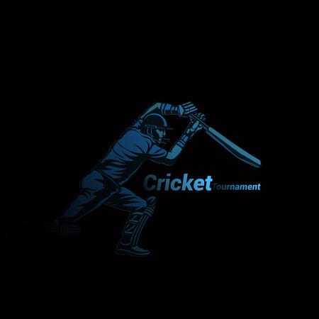 Creative logo of cricket vector illustration 일러스트