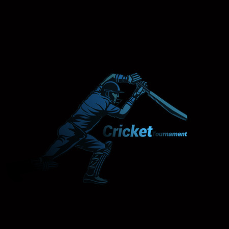 Creative logo of cricket vector illustration Иллюстрация