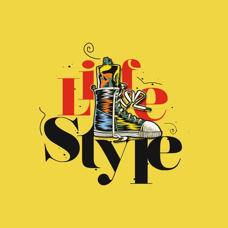 minimal logo of life style vector illustration.