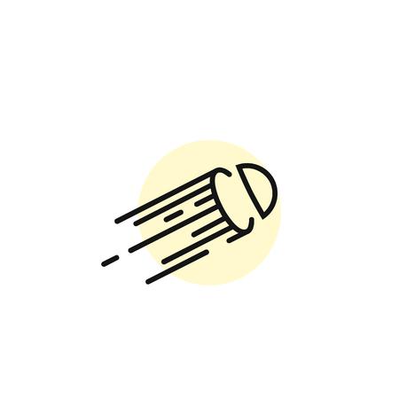 Simple forms of line art vector illustration. Illustration