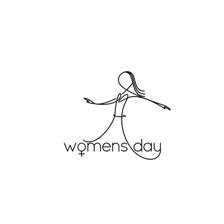 Minimal icon of line art women's days vector illustration. Banque d'images - 95671944