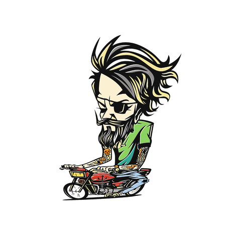 A man with bike vector illustration design.