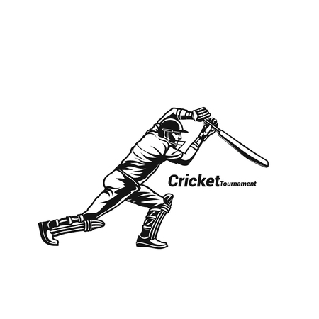 Cricket player batsman vector illustration design.