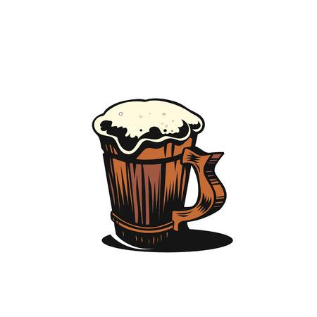 Simple beer mug vector illustration. Illustration
