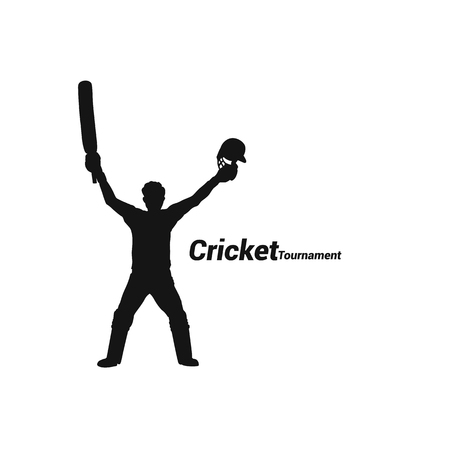 Cricketer won the match vector illustration design. Фото со стока - 95748170