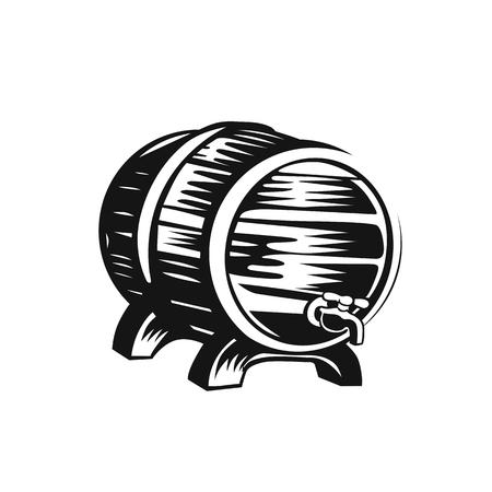 Beer barrel icon vector illustration design. Illustration