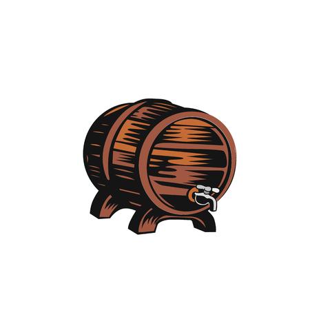 Old wooden barrel vector illustration design.