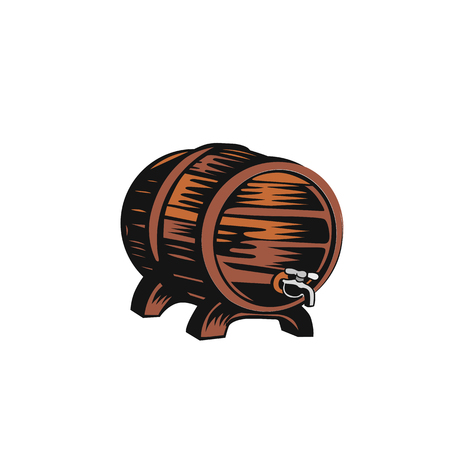 Old wooden barrel vector illustration design.