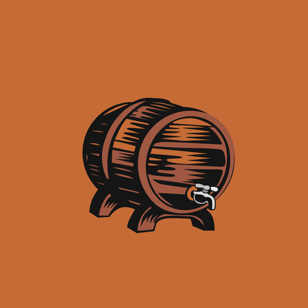 Beer drum icon vector illustration design. Ilustração