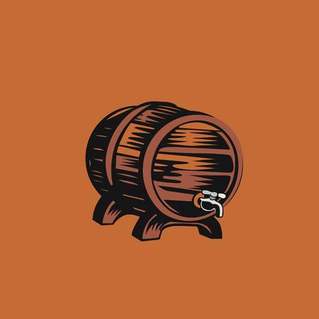 Beer drum icon vector illustration design. Illustration