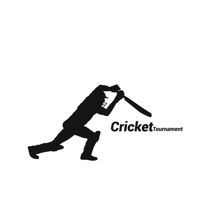 Cricket high swing shadow icon vector illustration.