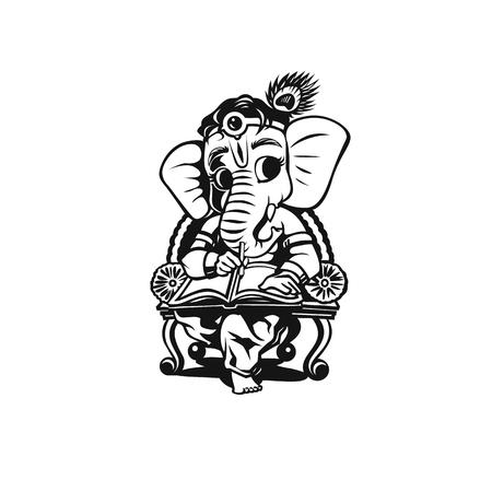 Black lord ganesh vector illustration design.