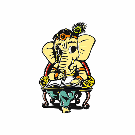 Lord ganesh vector illustration.