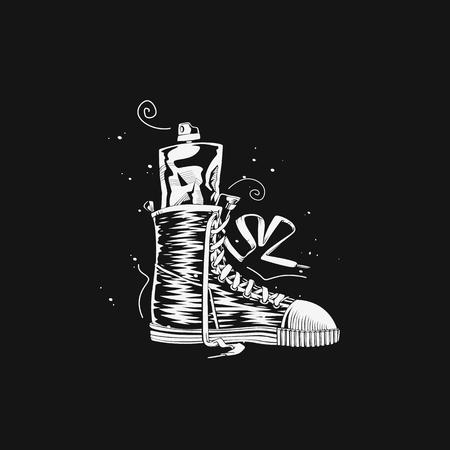 White shoe vector illustration design.