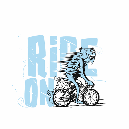 Abstract vector cyclist illustration.