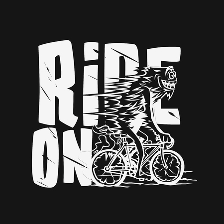 man riding bicycle vector illustration.