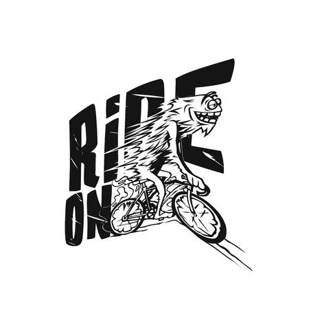 Faster cycling vector illustration design.  イラスト・ベクター素材