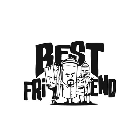 Best friends vector illustration design.  イラスト・ベクター素材
