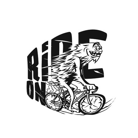 Bicycle riging vector illustration design.