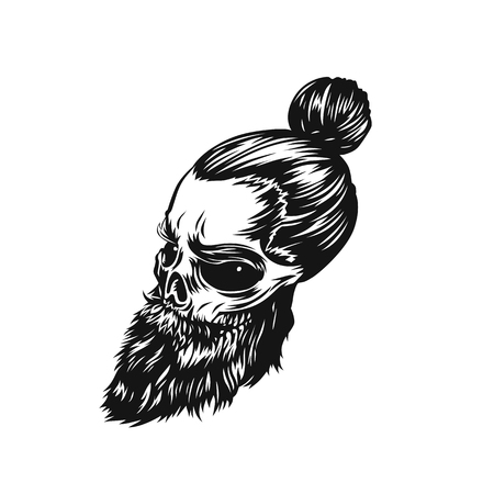 minimal swag skull vector illustration.  イラスト・ベクター素材