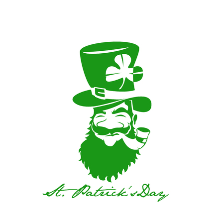Green St. Patricks day vector illustration.
