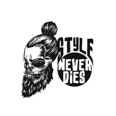 Black Swag skull vector illustration.