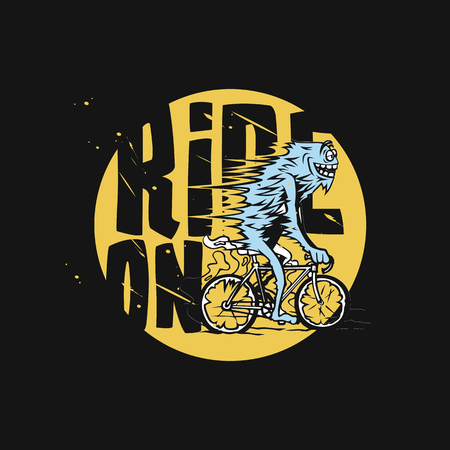 A man riding bicycle vector illustration design.