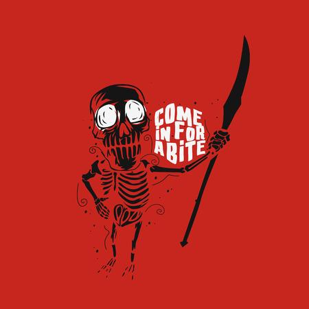 Halloween skeleton vector illustration.  イラスト・ベクター素材