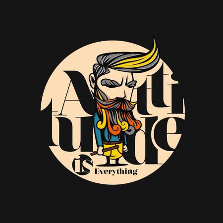 Attitude man vector illustration design.