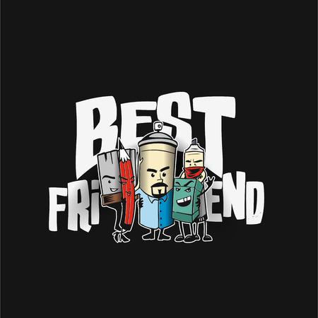 Colorful friendship vector illustration design.