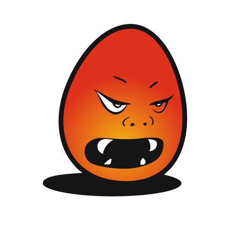 Devil egg vector illustration.