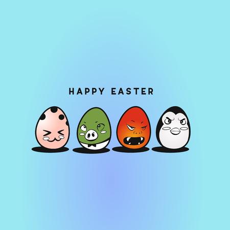 Cute easter eggs vector illustration design.