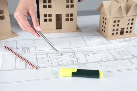 urban scene: Hand drawing of urban scene. Construction concept.
