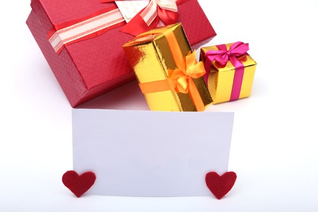 Colored gift boxes for celebration occasion. Place for your text. Stock Photo