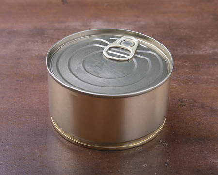 tincan gold metal for canned Food. Real product packing.