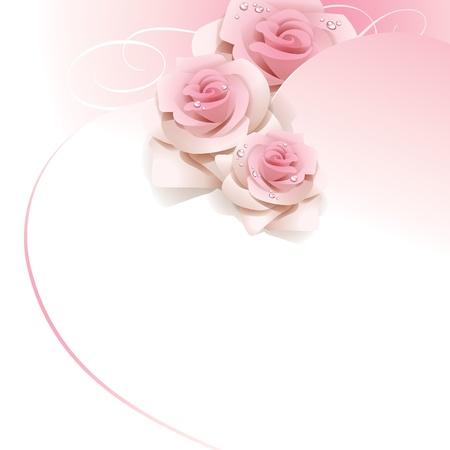 proposal of marriage: Sfondo di nozze con rose rosa.