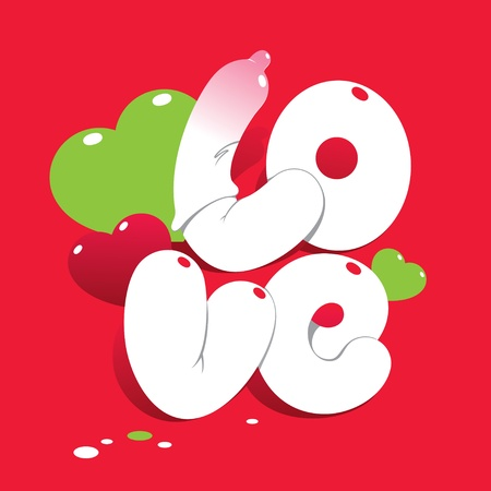 Valentine card with lettering LOVE. For themes like love, valentines day, holidays. Vector illustration. Vector