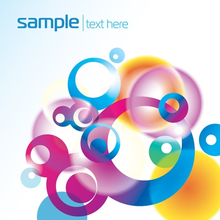 Abstract colorful background with circles. Vector illustration.