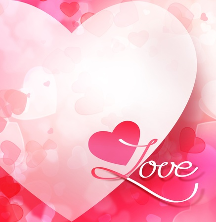 Abstract St Valentine White Background With Hearts. For Themes ...