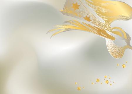 noel argent�: Argent de No�l de fond avec la figure d'un ange dentelle. Vector illustration.