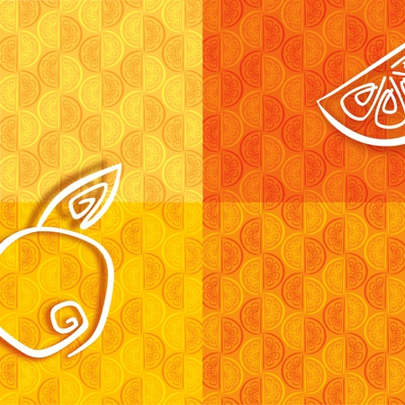 Colorful pattern from orange segments Stock Vector - 10680474