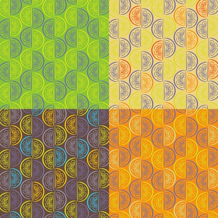 Pattern from orange segments of four different colors Stock Vector - 10737714