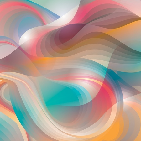 Abstract background with transforming shining forms. Vector illustration.