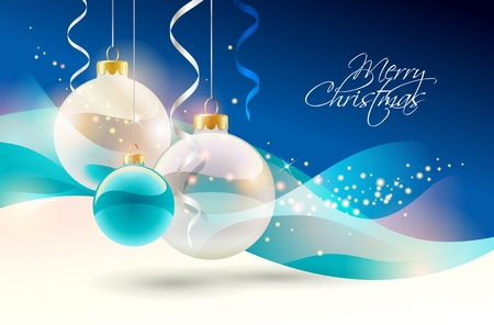 Christmas background with baubles. Vector illustration. Vector