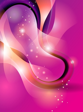 Abstract colorful background with transforming shining forms. Vector illustration.