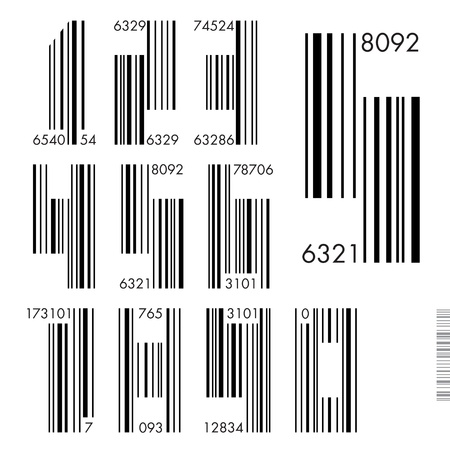 Font Barcode - numbers illustration. Vector